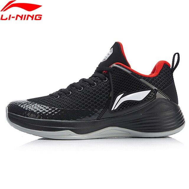 Li-Ning/Мужская баскетбольная обувь SHADOW On Court, нескользящая спортивная обувь с подкладкой, кроссовки для фитнеса, ABPN011 XYL176