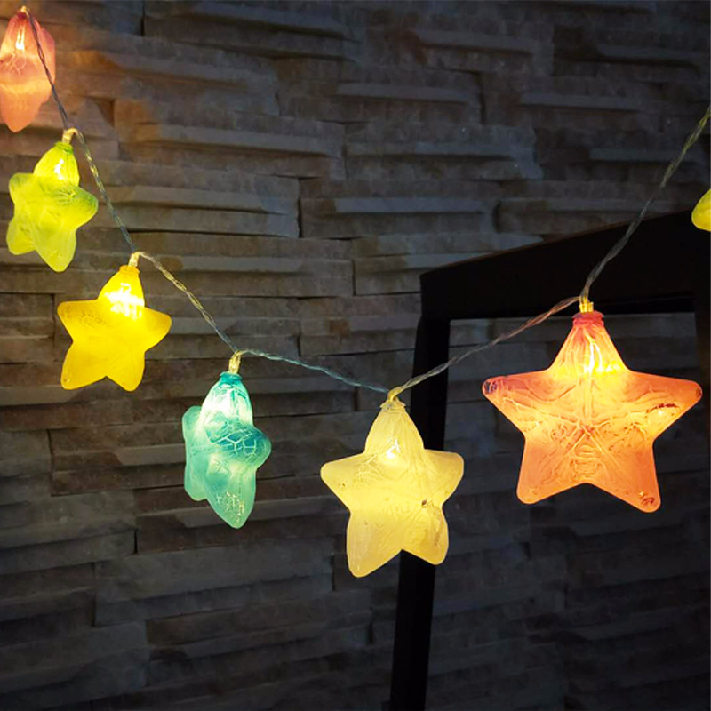 Outdoor Lighting Crack Stare String Light Fairy Led Holiday Decorative Lighting 10/20 Stars For Wedding Girl Room Party Xmax Decor Lamp Iy310175 Sophisticated Technologies
