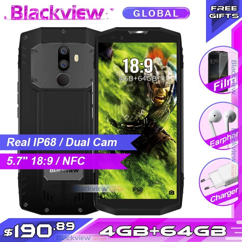 Фото. 2017 Blackview BV9000 5,7 дюйм 18:9 смартфон IP68 Водонепроницаемый Android 7,1 P25 Octa core 4
