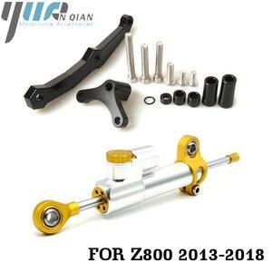 Image 4 - Motorcycle Accessories Adjustable Dampe Linear Reversed Steering Damper with bracket For Kawasaki Z800 z 800 2013 2014 2015 2016