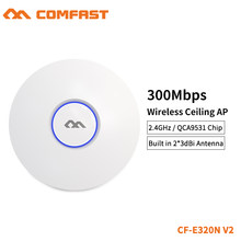 COMFAST 300M WiFi Ceiling Wireless AP 802.11b/g/n QCA9531 Enterprise Wifi System AP 48V POE OPEN DDWRT Access Point AP CF-E320V2(China)