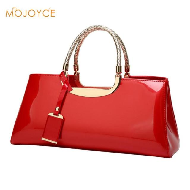 Fashion Women Glossy Patent Clutch Handbag Fashion Casual Shoulder Bag Top-handle Women Handbags Luxury Designer torebki damskie