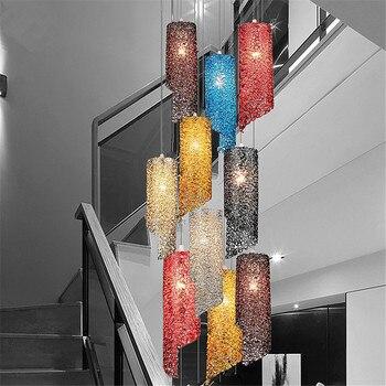 أوروبا نجفة مزودة بإضاءات ليد خمر مطعم الحديثة غرفة الطعام بار متجر تزيين السقف داخلي تركيبة إضاءة AC110-265v