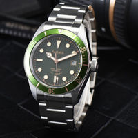 41mm parnis Green Dial Sapphire Glass Rotating Bezel Luxury Brand Luminous Steel Case Miyota Automatic Movement men's Watch