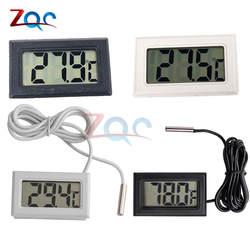 Мини ЖК-цифровой термометр для морозильной камеры температура-50 ~ 110 градусов холодильник термометр закрытый открытый зонд 1 м 2 м