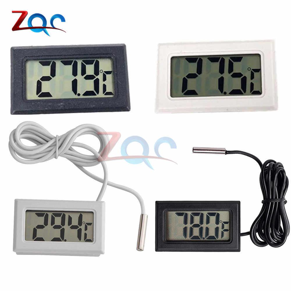 Mini thermomètre numérique LCD pour congélateur température-50 ~ 110 degrés réfrigérateur réfrigérateur thermomètre intérieur extérieur sonde 1M 2M
