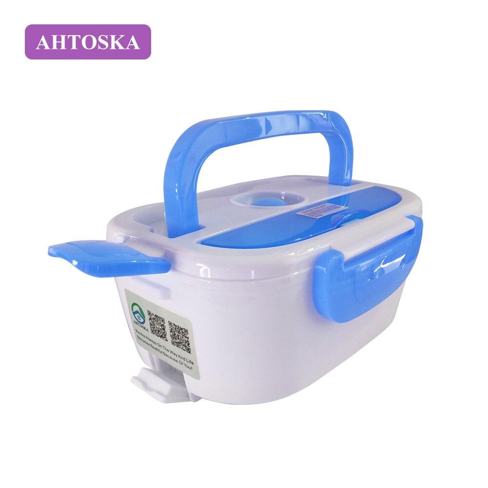 AHTOSKA 220 V Tragbare Elektrische Heizung Lunchbox Lebensmittelqualität Lebensmittelbehälter Kostwärmer Für Kinder 4 Schnallen Geschirr Sets