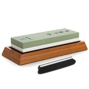 Image 2 - HEZHEN aiguiseur de couteaux de cuisine, meule, diamant Surface daffûtage, couteau en pierre à aiguiser, outil daffûtage de cuisine avec Guide dangle