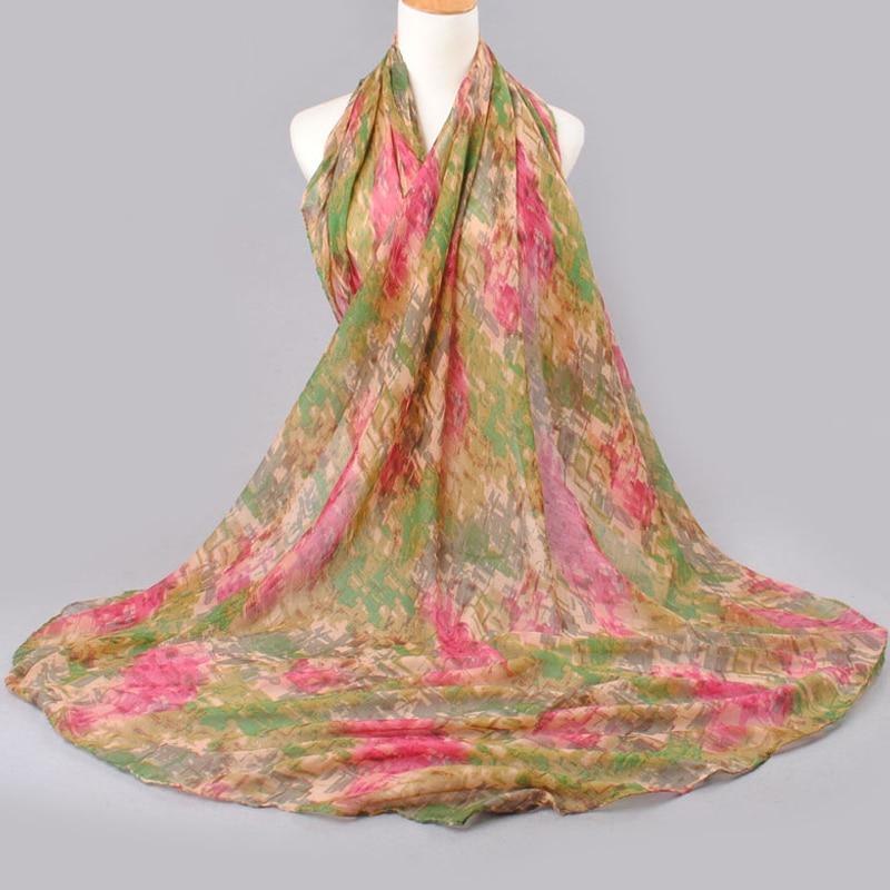 2019 högkvalitativ KVINNA SCARF bomullslöst polyester scarves solid - Kläder tillbehör - Foto 2