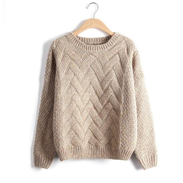 Loose Vintage Knited O-Neck Pullover  5