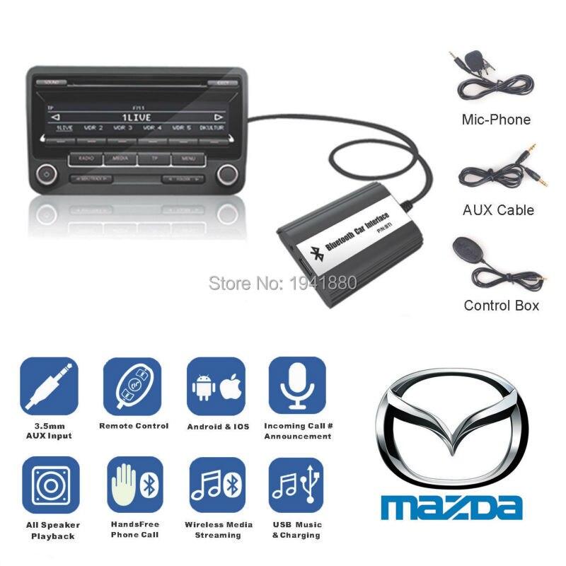 DOXINGYE Pour Mazda 2/3/5/6/CX7/MX5/MPV/Miata/RX8 bluetooth A2DP Voiture MP3 Adaptateur AUX Musique USB Chargeur Bluetooth Mains Libres