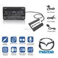 Para Mazda 2/3/5/6/CX7/MX5/MPV/Miata/Homenaje/RX8 Bluetooth A2DP Música Adaptador de MP3 Del Coche AUX USB de Carga Kit Manos Libres