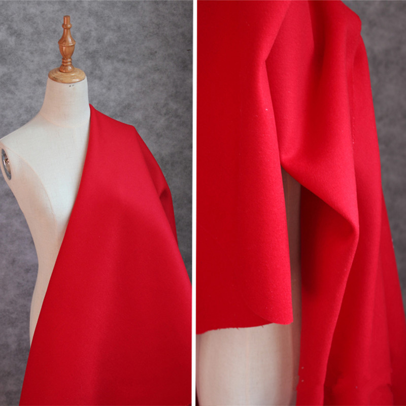 100x150cm/pieces Cashmere Fabric 100% Pure Wool Coat Cloth, Suit Windbreaker Fabric Red Black Pink Khaki