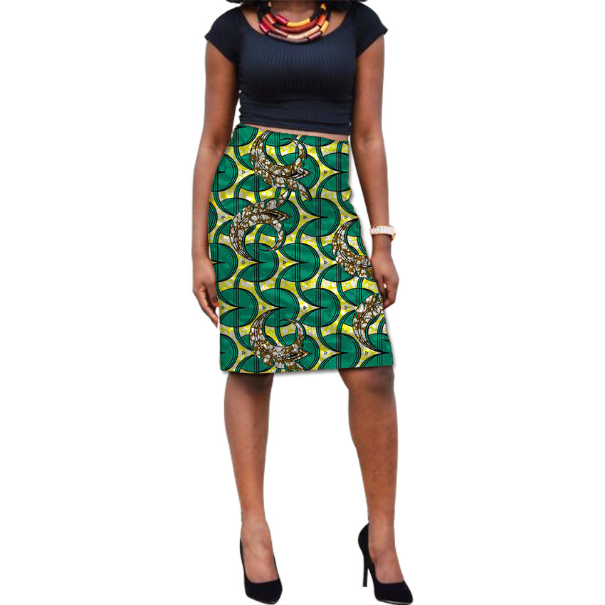 Tailor Made African Skirt Elegant Women Dashiki Clothes Wax Print Skirts For Ladies Element Festival Ankara Clothing