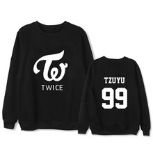 K-pop TWICE Lin Nalian Yu Ding the same style long sleeved bodywear loose men women clothes autumn thin section kpop(China)