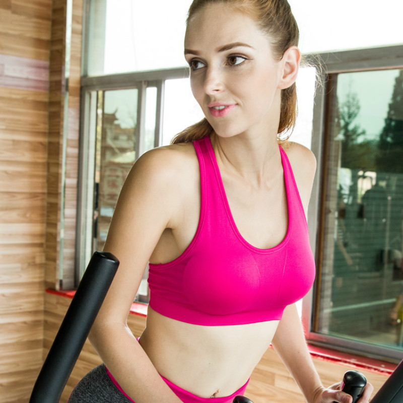 2017 New Female Sports bra no rims yoga clothing fitness running vest underwear quick-drying women sports bra