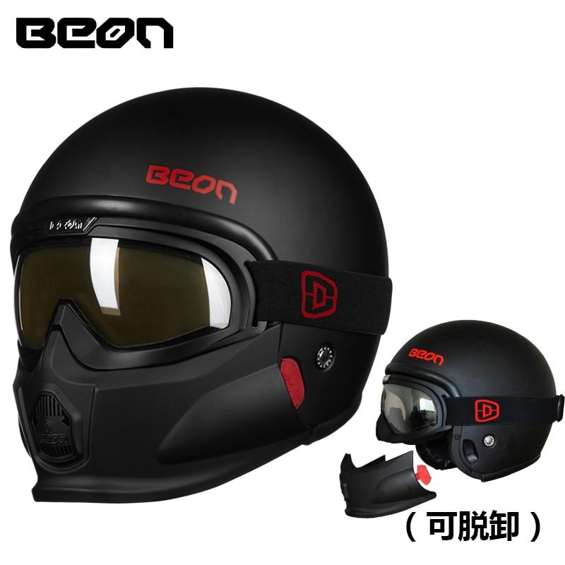 2018 New BEON Retro Harley Style Motorcycle Helmet Modular Motocross Motorbike Capacete ABS Casco moto T703