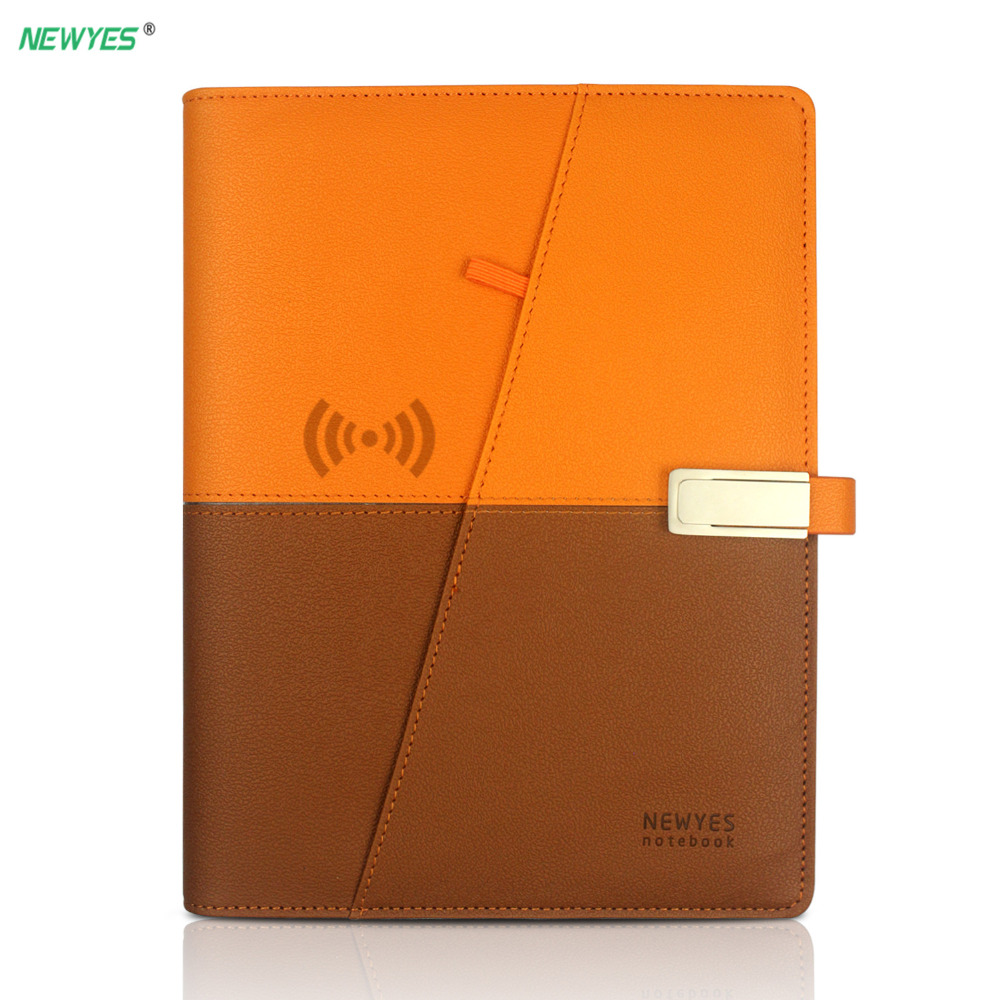 NEWYES A5 Smart Reusable Erasable Notebook A5 Paper power bank and USB flash disk For School Office Supplies App Connection messenger bag