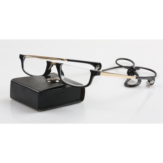 c31b06481337e Alta Qualidade Colar De Coração de Mulheres Meia Armação Meio Aro Óculos de  Leitura Dobrável Pendurado