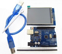 2 8 Inch TFT LCD Touch Screen Display Module UNO R3 Development Board USB Cable Compatible