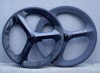 700C полный углерода 3 спицы колеса углерода 70 мм Глубина tri спицевый довод/трубчатые для дорожного/ трек/Триатлон/Time пробный велосипед обод