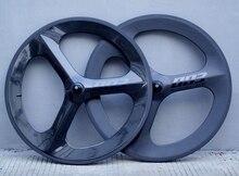 700C كامل الكربون 3 المتحدث عجلات الكربون 70 مللي متر عمق ثلاثي تكلم الفاصلة/أنبوبي للطريق/المسار/الترياتلون/الوقت محاكمة الدراجة ريم