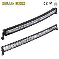 HELLO EOVO 5D 42 inch 400W Curved LED Light Bar for Work Indicators Driving Offroad Boat Car Tractor Truck 4x4 SUV ATV 12V 24V