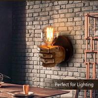 Vintage Fist Resin Wall Lights Creative Industrial Wall Sconce Retro Wall Lamp Aisle/Balcony light 1 Light Wall Light Fixture