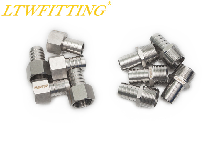 LTWFITTING Value Pack Stainless Steel 316 Barb Fitting Coupler 3/4