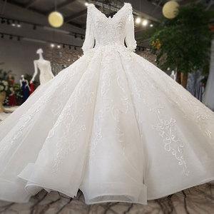 Image 3 - AIJINGYU Trouwjurken China Shiny White Nieuwste Stijl Bruiloft Plus Size Lace Cap Nova Bruidsjurk Online Verkoop