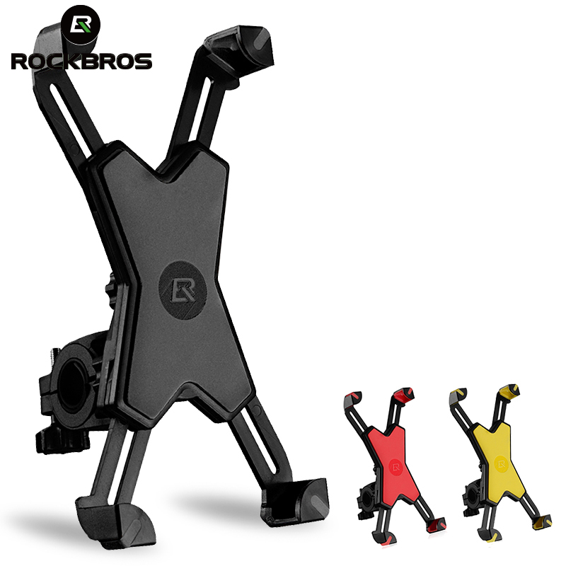 ROCKBROS Universal Cycling Bike Phone Stand PVC Bicycle Handlebar Phone Mount Holder Adjustable For Cellphone Bike Accessories