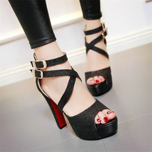 Large Size 32-41 42 Fashion Lady Pumps 2016 New Sandals Women Shoes High Heels Shoes Woman Summer Style Sapato Femininos Mujer