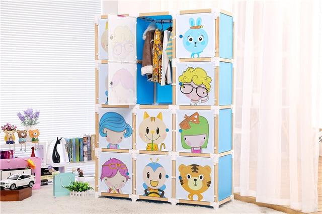 12 porte 11 cubi 1 appendiabiti per bambini armadio con porta ...