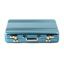 Business Card Holders Metal Mini Suitcase Pattern Business Bank Card Name Card Holder Case Box #2415