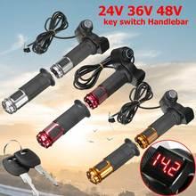 Ручка газа led подробная информация о для ebike электрический скутер 24 В 36 В 48 В руль цифровой измеритель 2 шт. серебряный красный orange