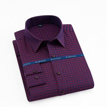 Fashion Men Long Sleeve Printed Casual Shirts Camisa,England Style Wash and Wear Shirts Chemise Single Breasted Base Vestido цена 2017