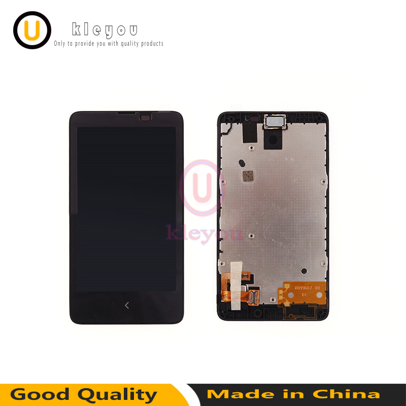For Nokia X A110 RM 980 RM980 lcd Touch Screen Digitizer Panel Sensor Glass + LCD Display Module Monitor Assembly With Frame