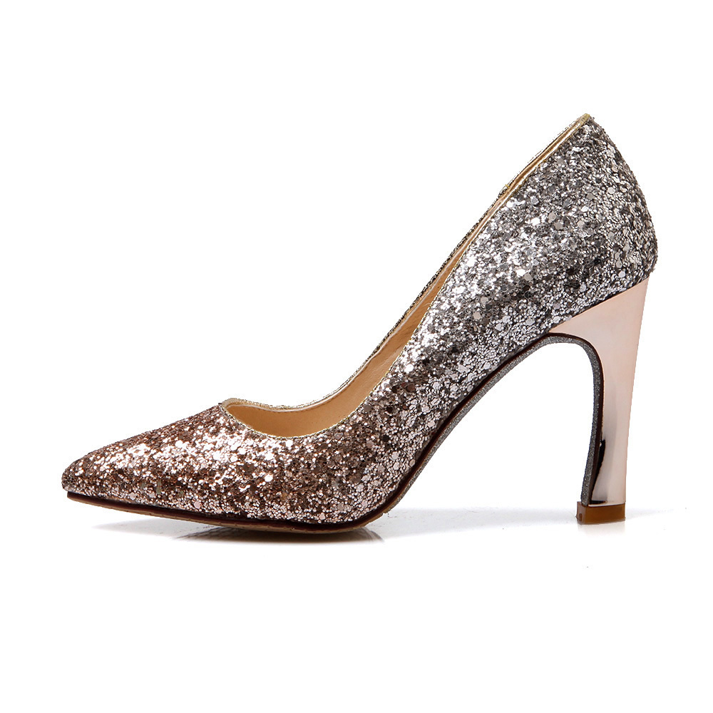 ФОТО ARMOIRE Brand New Fashion Red Gold Gray Silver Women Blink Pumps Ladies Dressed Shoes High Heels ACP051 Plus Big Size 10 43