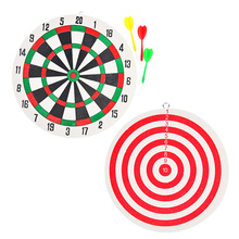 Funny Dart Board Wall-mounted Double-sided Dart Board Thickened Foam with 3 Darts For Man Cave Game Room Kids Decoration decorative dart board king ring for boys and girls