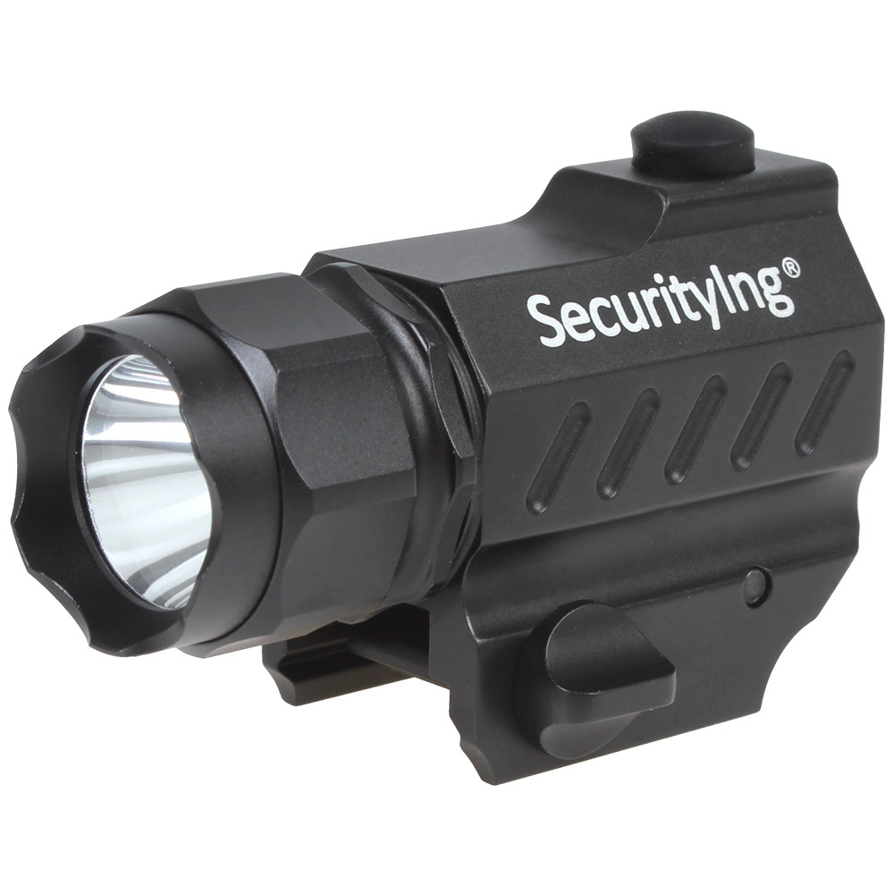 SecurityIng 400 Lumens Flash light Mini XP G R5 LED High Power Gun Mounted Torch Tactical Flashlight with Button Switch