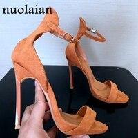 Brand Summer Shoes Woman 12CM Thin Heels Peep Toe Platform Pumps Sandals Women High Heel Shoes