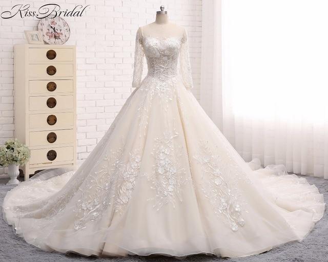 Gelinlik Lace Tulle Wedding Dresses 2018 Corset Back robe de mariage ...