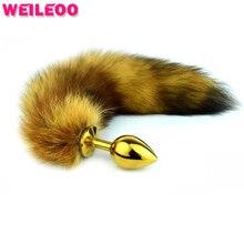 3размеркоричневыймоделированиелисий хвост анальный хвост анальная пробка хвост пробка анальная игрушки для взрослых секс игрушки для мужчин эротические товары
