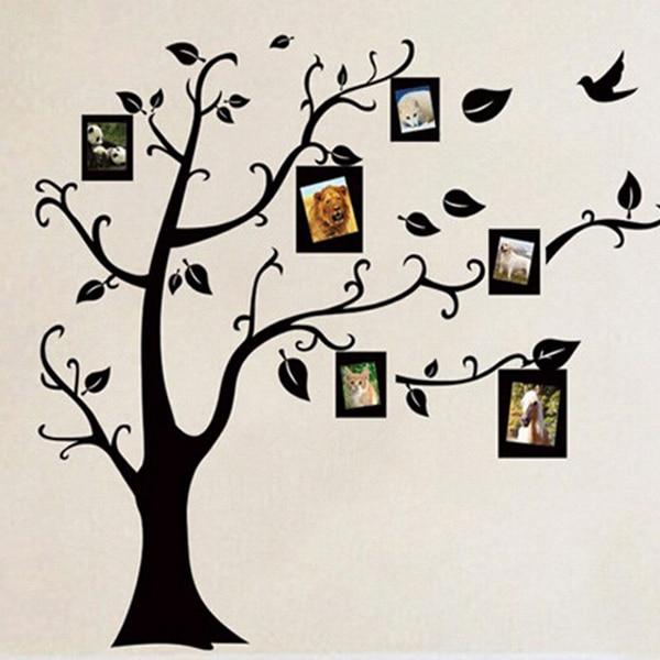 1 PC PVC Bingkai Foto Pohon Desain Stiker Dinding untuk ...