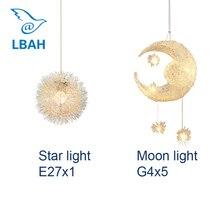 The stars the moon creative personality droplight restaurant bar balcony bedroom warmth lighting lamps and lanterns of children  стоимость