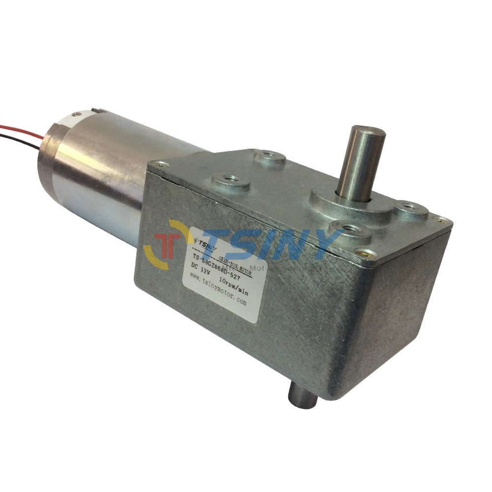 DC12V High-torque Worm Reducer Geared Motor,Low Speed 10RPM Double shaft Gearbox Motor, Free shipping цена
