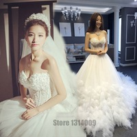 Sweetheart Wedding Dress Real Photo Royal Train Appliques Ball Gown Floot Gowns Luxury Wedding Dresses Alibaba