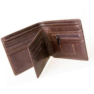 Image 5 - MRF1 تتفاعل حجب محفظة الرجال محفظة جلدية حقيقية الهوية سرقة حماية محفظة بشريحة RFID محفظة الرجال بطاقة الائتمان محفظة Vintage