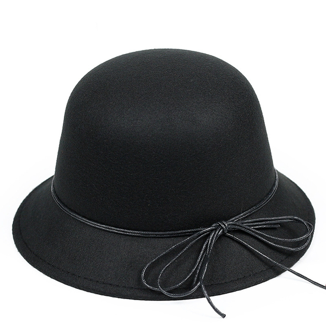 New women fashion lines rope basin cap Outdoor shade pots hat British wind hat