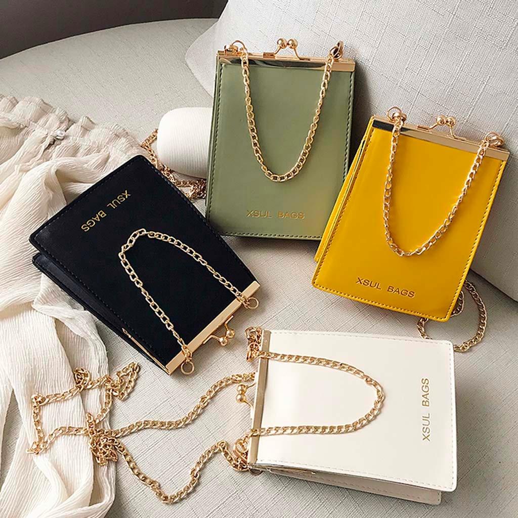 Womens Bag Fashion Solid Color Shoulder Chain Diagonal Casual Taschen Women Bolsa Masculina Sac Femme Sac Bandouliere Femme 2019